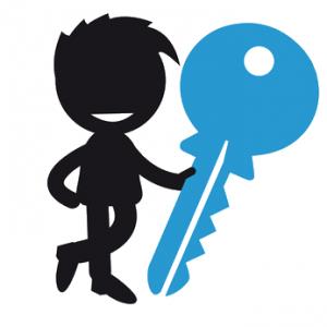 Monteur mit Schlüssel